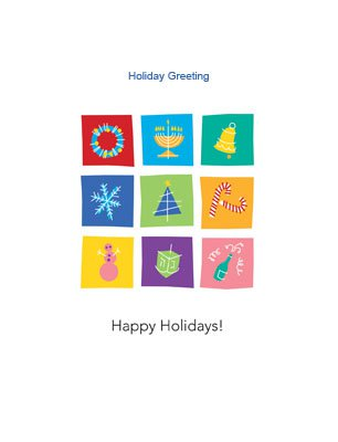 Happyholidays25 Greeting Card (4x55)